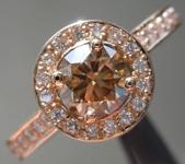 0.68ct Yellowish Brown SI2 Round Brilliant Diamond Ring R6847