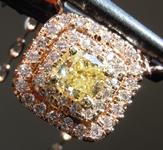 0.45ct Yellow SI2 Cushion Cut Diamond Pendant R6861