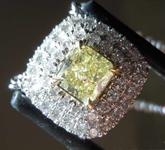 SOLD.....0.55ct Fancy Yellow SI1 Cushion Cut Diamond Pendant R6887