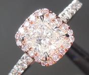 0.79ct I SI2 Cushion Cut Diamond Ring R6897