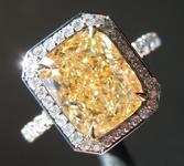 SOLD.....3.50ct Y-Z SI1 Cushion Cut Diamond Ring GIA R6918