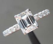 1.04ct F VVS1 Emerald Cut Diamond Ring R6926
