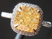 2.01ct W-X VS2 Cushion Cut Diamond Ring R6954