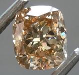 SOLD.......Loose Brown Diamond: 1.02ct Fancy Light Yellowish Brown SI2 Cushion Modified Brilliant Diamond GIA R6979
