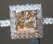 SOLD....1.28ct Brown I1 Princess Cut Diamond Ring R6982