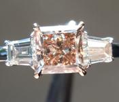 SPECIAL! 0.95ct Yellow Orangy Brown VS2 Princess Cut Diamond Ring R6983