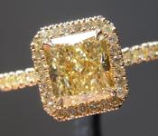 1.36ct Fancy Yellow VVS1 Radiant Cut Diamond Ring R7023