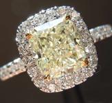 SOLD...1.51ct S-T SI1 Cushion Cut Diamond Ring R7079