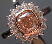 SOLD....1.01ct Y-Z (Brown) SI1 Cushion Cut Diamond Ring R7122