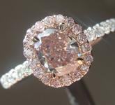 0.75ct Brownish Pink SI1 Cushion Cut Diamond Ring R7124