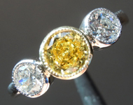 SOLD....0.52ct Intense Yellow SI2 Round Diamond Ring R7233