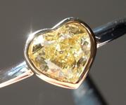 0.77ct Fancy Yellow IF Heart Shape Diamond Ring R7244