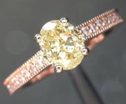 0.85ct Yellow SI1 Oval Shape Diamond Ring R7245