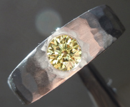 0.70ct Intense Yellow SI2 Round Brilliant Diamond Ring R7269