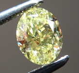 Loose Yellow Diamond: .72ct Fancy Intense Yellow SI1 Oval Brilliant Diamond GIA R7274