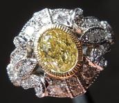 0.90ct Fancy Yellow VVS1 Oval Shape Diamond Ring  R7275