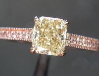 0.86ct Yellow SI2 Radiant Cut Diamond Ring R7282