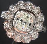 SOLD....1.02ct J I1 Cushion Cut Diamond Ring R7304