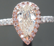 SOLD.....0.80ct K SI2 Pear Shape Diamond Ring R7324