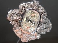 1.03ct J SI1 Cushion Cut Diamond Ring R7330