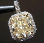 2.12ct U-V VVS2 Radiant Cut Diamond Pendant R7339