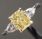1.01ct Intense Yellow SI1 Radiant Cut Diamond Ring R7360