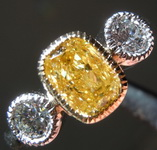 1.01ct Intense Yellow I1 Cushion Cut Diamond Ring R7361