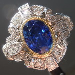 SOLD... 2.49ct Blue Oval Sapphire Ring R7386
