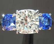 SOLD....1.39ct K SI1 Cushion Cut Diamond Ring R7467