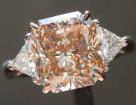 SOLD.....3.45ct Light Yellowish Brown SI2 Radiant Cut Diamond Ring R7474