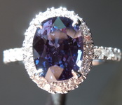SOLD..........2.28ct Oval Violet-Purple Color Change Sapphire Ring GIA R7504