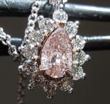 SOLD......30ct Fancy Pinkish Brown I2 Pear Shape Diamond Pendant GIA R7540