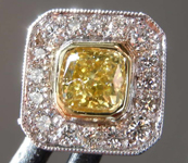 0.40ct Yellow SI2 Radiant Cut Diamond Tie Tack R7550