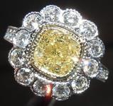 SOLD...1.57ct U-V VS1 Cushion Cut Diamond Ring R7577
