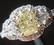 SOLD....1.32ct W-X VVS2 Cushion Cut Diamond Ring R7606