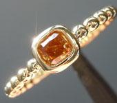 0.28ct Brown Orange I1 Radiant Cut Diamond Ring R7621