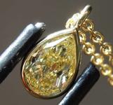 0.63ct Intense Yellow SI1 Pear Shape Diamond R7637