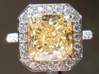 3.18ct Y-Z VS1 Cushion Cut Diamond Ring GIA R7655