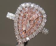 SOLD......0.53ct Orangy Pink I1 Pear Brilliant Diamond Ring R7674