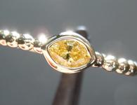 0.20ct Vivid Yellow VS2 Marquise Diamond Ring R7680