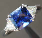 SOLD....2.03ct Blue Radiant Cut Sapphire Ring R7730
