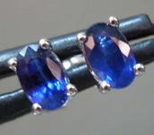 0.69ctw Blue Oval Sapphire Earrings R7731