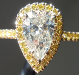 SOLD.....1.58ct M SI2 Pear Diamond Ring R7741