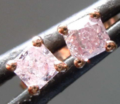 SOLD....35ctw Fancy Pink Radiant Cut Diamond Earrings R7757