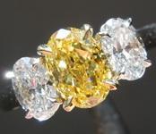 SOLD......92ct Vivid Yellow IF Oval Diamond Ring R7786
