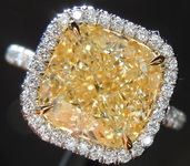 4.24ct W-X VS2 Cushion Cut Halo Diamond Ring R7790