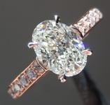 1.07ct J SI1 Oval Diamond Ring R7813