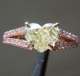 SOLD...1.54ct U-V VS1 Heart Shape Diamond Ring R7860