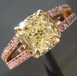 1.51ct W-X VS1 Cushion Cut Diamond Ring R7864