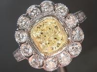 SOLD....1.22ct U-V VS1 Cushion Cut Diamond Ring R7865